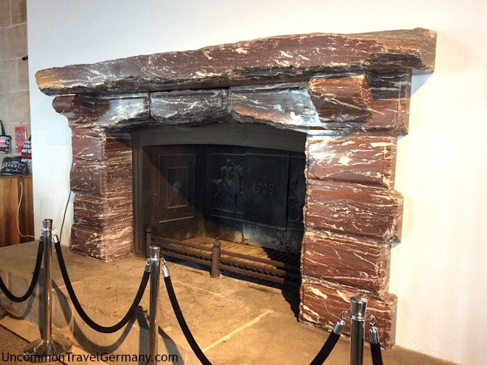 Eagles's Nest, Germany. Mussolini's fireplace
