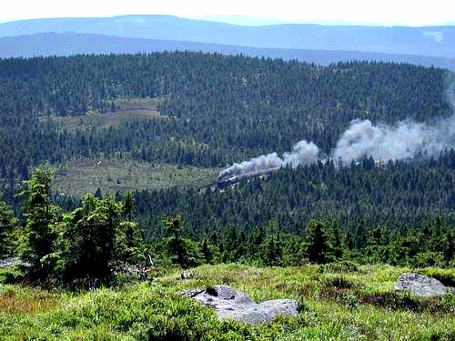 Steam Train Climbing the Brocken, Harz Mountains, Germany