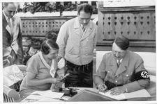 Hitler with Rudolf Hess and secretary