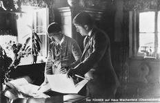 Hitler and Albert Speer at Haus Wachenfeld, looking at plans.