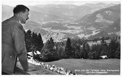 Hitler and view from Berghof