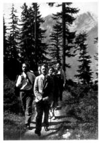 Hitler walking on the Obersalzberg