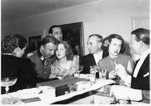 Eva Braun talking with Hermann Fegelein