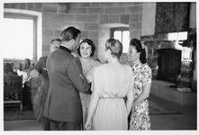 Wedding party at the Eagle's Nest, Gretl with Hermann Fegelein