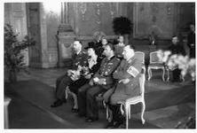 Fegelein wedding in Salzburg church, Martin Bormann and Heinrich Himmler
