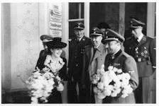 Hermann and Gretl Fegelein leaving the church after the wedding
