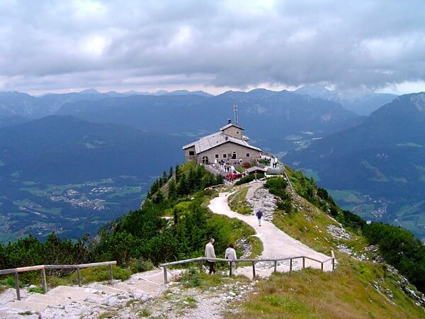 Hitler's Eagle's Nest, Germany, Kehlsteinhaus, view from above