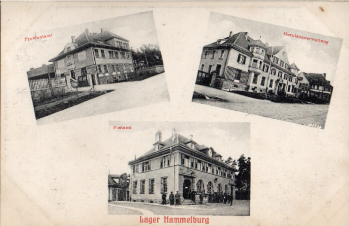 Lager Hammelburg (Stalag 13) administration buildings at POW camp, 1917