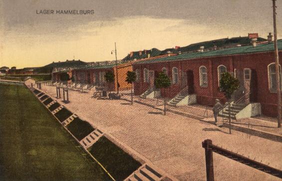 POW barracks at Lager Hammelburg in 1917