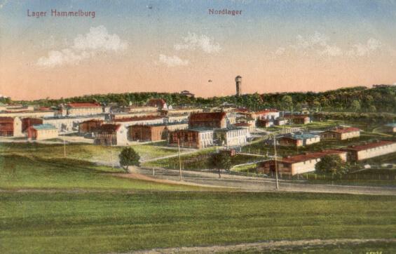 Lager Hammelburg postcard, Nordlager, 1917