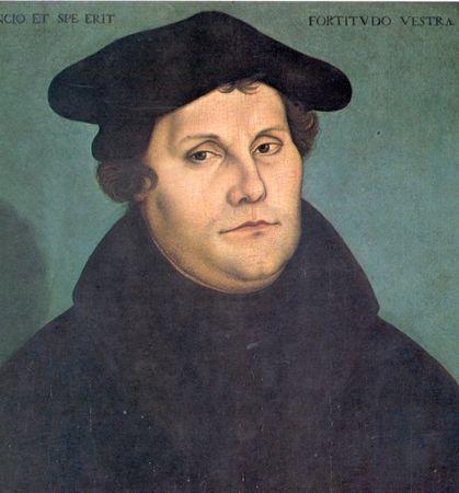 Portrait of Martin Luther, by Lucas Cranach the Elder