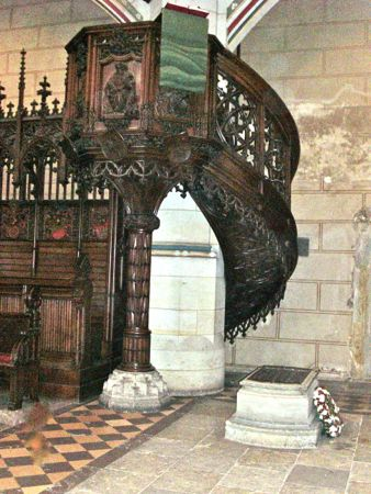 Martin Luther's Grave, Castle Church, Wittenberg Germany