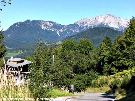 View of Untersberg Mountain on the Obersalzberg, Germany