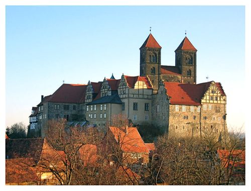 The Burgberg, in Quedlinburg, Harz