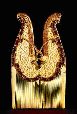 Jeweled Comb, 7th Century, Quedlinburg treasure