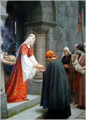 Leighton painting of Saint Elizabeth of Hungary