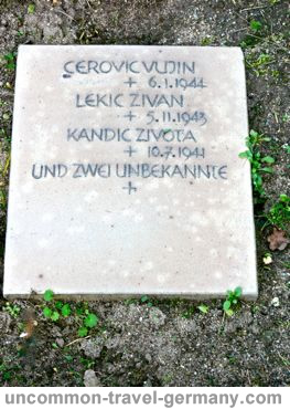 Russian gravestone at Lager Hammelburg