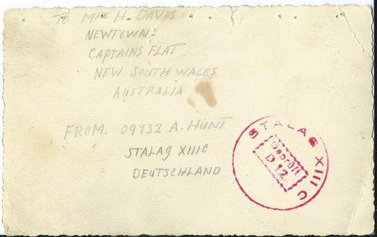 stalag 13 stamp on pow photo