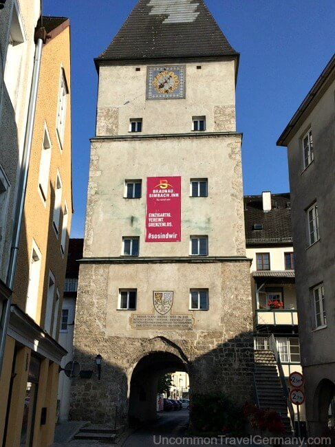 Gate tower in Braunau am Inn, Austria
