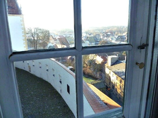 View of town from window of Colditz Castle