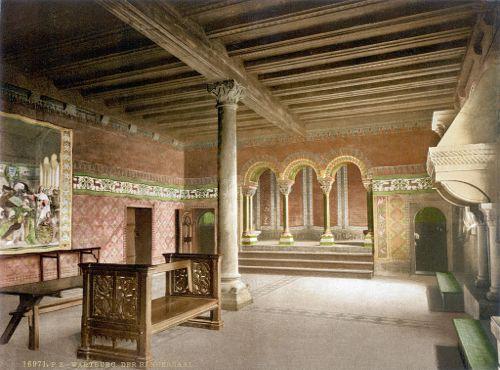 Troubadours Hall, Wartburg Castle, Germany, Postcard ∼1900