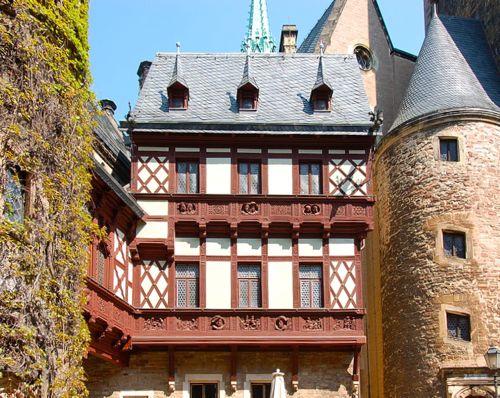 Wernigerode Castle courtyard, Harz, Germany