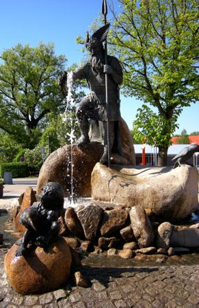 Wotanbrunnen, Spring of Wisdom, Thale, Germany